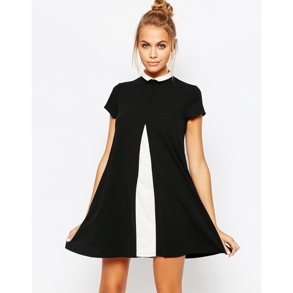 UNIF Dresses & Skirts - UNIF Merlina Open Front Black & White Dress